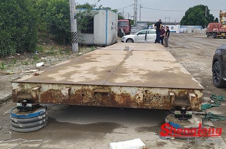 5月15日金华婺城周经理采购1台12米2节二手地磅