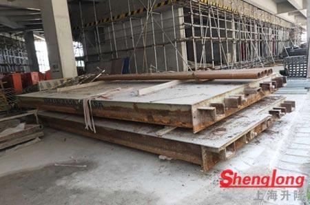 5月25日盐城大丰韩经理采购1台2节50吨二手地磅