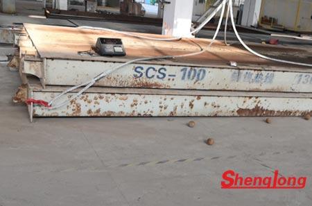 6月1日南通崇川王经理采购1台100吨二手地磅(自提)