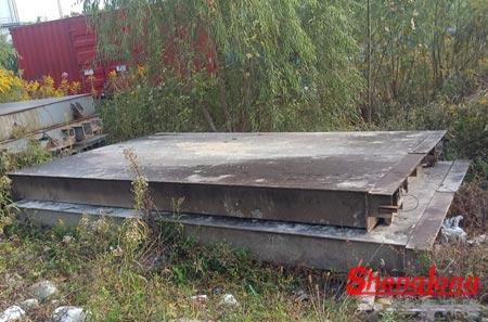 5月7日上海浦东熊经理采购1台50吨二手地磅(2节)