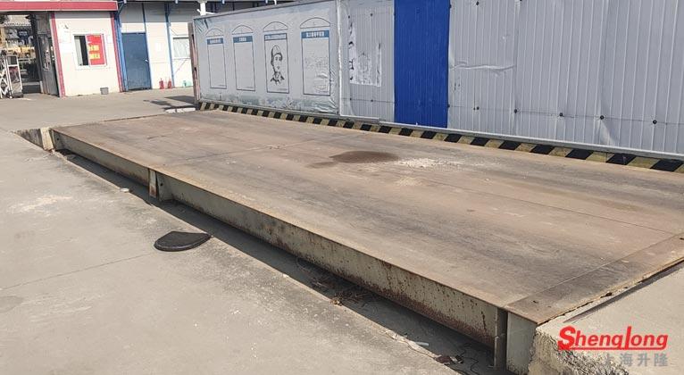 5月21日浙江舟山定海蒋经理采购2台60吨二手地磅